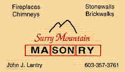 Surry Mountain Masonry - Surry, NH